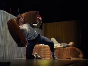 Harrison Ritchie-Jones and Alison Currie in Concrete Impermanence. Photo: Sam Roberts